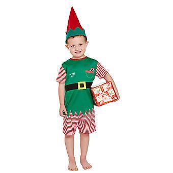 Småbarn pojkar Santa ' s lilla hjälpare Elf fancy dress kostym ålder 3