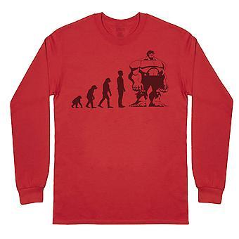 האבולוציה לענק-חולצת סבא ארוך שרוול טריקו