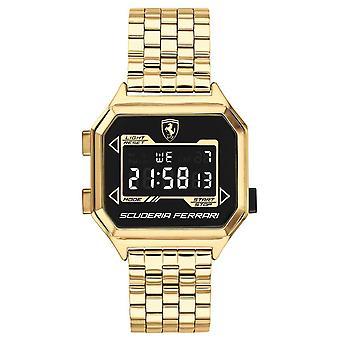 Scuderia Ferrari | Men's Digidrive | Gold Plated Bracelet | Black Dial | 0830705 Watch