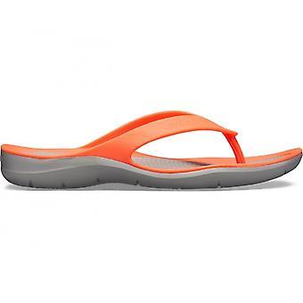 Crocs 204974 Swiftwater flip Ladies flip flops lyse koral/lysegrå