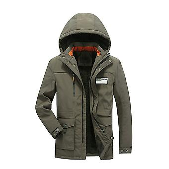 Allthemen Men's Thick Warm Cotton Hooded Business Casual Padded Jacket
