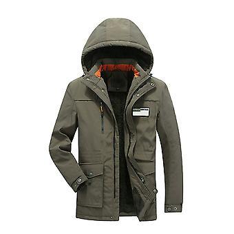 Allthemen Men-apos;s Thick Warm Cotton Hooded Business Casual Veste rembourrée