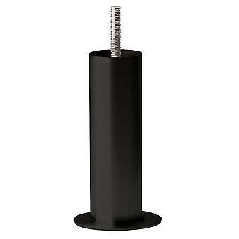 Kulatá černá nábytková noha 17 cm (M8)