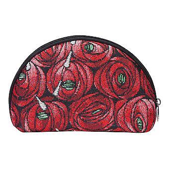 Mackintosh-Rose og teardrop stor kosmetisk pose med signare billedvev/bgcos-rmtd