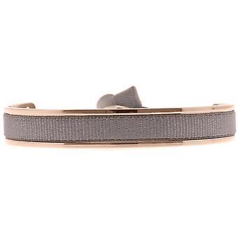 Les austauschbare Armband A47425 - Jonc Ruban austauschbar 6mm braun dunkle Frauen