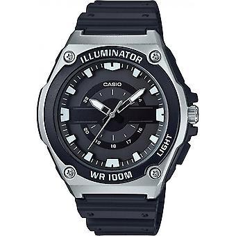 Reloj Casio Colección MWC - 100 H-1AVEF - multifunción de silicona negro caso dinero acero hombre