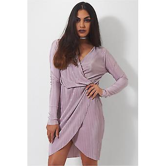 Selina Mauve Wrap Dress