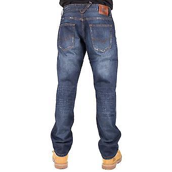 CAT Lifestyle HommeS Trax Slouch Pantalon Jean Patch cuir