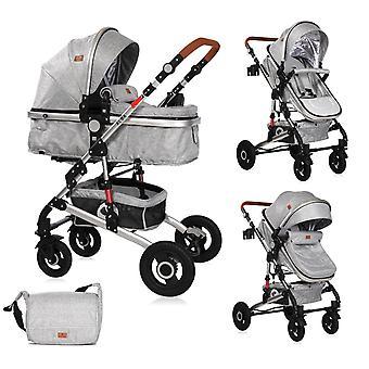 Lorelli wózek Alba 2 w 1 siatce sportowej opony gumowe z wanną dla niemowląt, regulowane