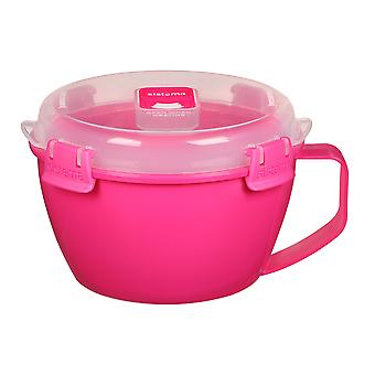 Sistema Klip It Microwave Noodle Bowl, 940ml, Pink