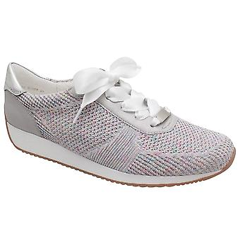 Ara Silver Woven Trainer With Ribbon Laces