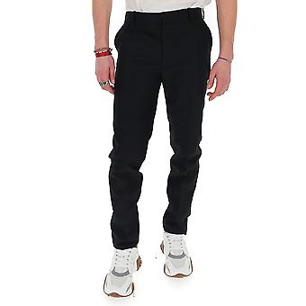 Alexander Mcqueen 599302qos471001 Men's Black Cotton Pants