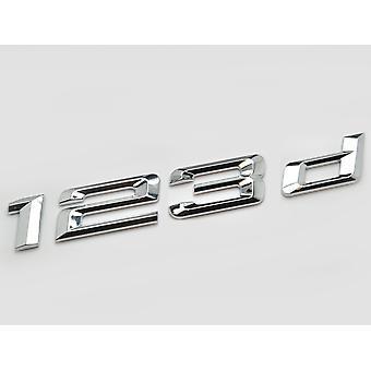 Silver Chrome BMW 123d Car Badge Emblem Model Numbers Letters For 1 Series E81 E82 E87 E88 F20 F21 F52 F40