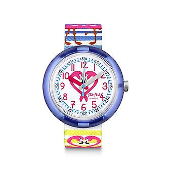 Flik Flak Watches Fpnp029 Flamily Textile Watch