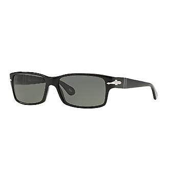 Persol PO2803S 95/58 Black/Crystal Green Polarised Sunglasses