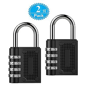 2 PACK Combination Padlock Lock 4-Position Combination Lock for Cabinets Students Travel Toolbox