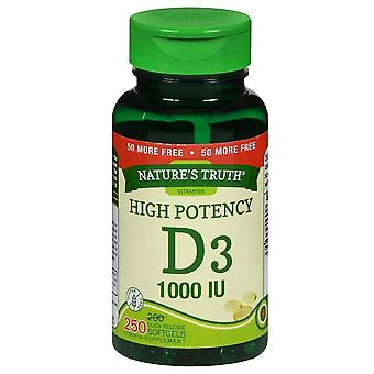 Nature's truth vitamin d3, 1000 iu, vitamin supplement, softgels, 250 ea