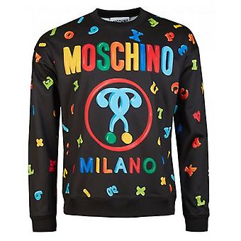 Moschino Couture All Over Magnets Print Sweatshirt