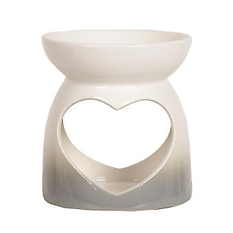 Aroma Grey Ombre Heart Wax Melt Burner