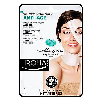 Anti-aging revitaliserande mask bomull ansikte & hals Iroha