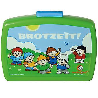 MAINZELMÄNNCHEN Children's bread tin with plastic green insert