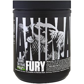 Universal Nutrition Animal Fury Dietary Supplement - Green Apple - 20 Servings