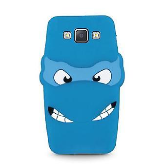 Samsung Galaxy A5 (2015) - 3D silikoni suojakuori - sininen