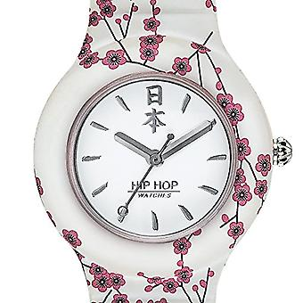 HWU0864-Hip Hop ladies Hip Hop White-collection I Love Japan-Silicon strap-Case 32 mm-waterproof