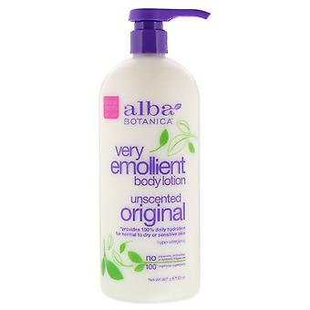 Natural Very Emollient Body Lotion Unscented Original (907 g) - Alba Botanica