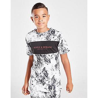 New Supply & Demand Kids' Moon T-Shirt White