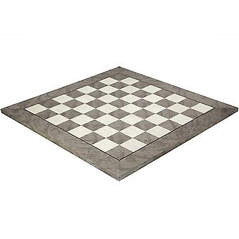 19.7 Inch Gloss Lacquered Ash Burl Deluxe Chess Board