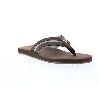 Tommy Bahama Taheeti  Mens Brown Synthetic Flip-Flops Sandals Shoes