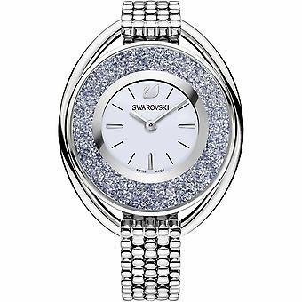 Swarovski 5263904 Crystalline Oval Silver Tone Unisex Watch