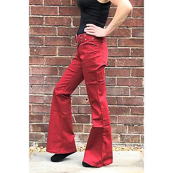 Retro Flared Jeans with Belt