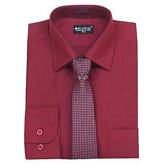 Pageboy Burgundy Shirt and Tie Set