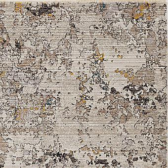4'x6' Silver Machine Woven Shrank Abstract Industrial Style Indoor Area Rug