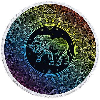 Colorful Indian Elephant Beach Towel
