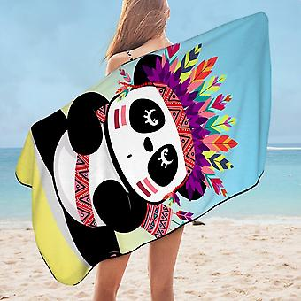 Chief Panda Microfiber Beach Towel