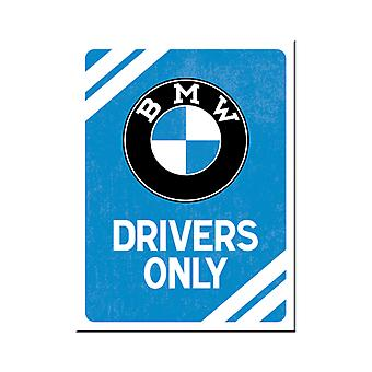 BMW Drivers Only Metal Magnet - Cracker Filler Gift