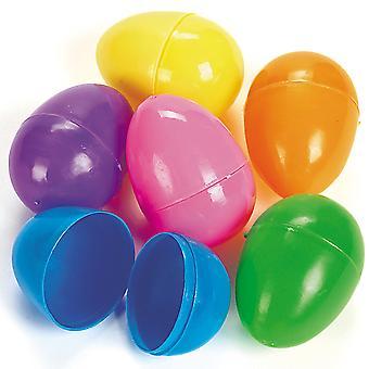 144 lyse to del utfyllbare plast påskeegg for Egg jakt - Bulk