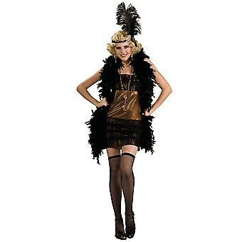 Charleston Honey Flapper Gold 1920s Gangster Deluxe Women Costume