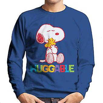 Peanuts Rainbow Huggable Snoopy & Woodstock Men's Sweatshirt