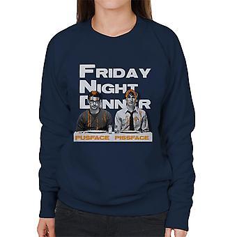 Friday Night Dinner Pusface And Pissface Women's Sweatshirt