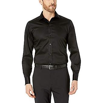 BUTTONED DOWN Men's Tailored Fit French Cuff Micro Twill Non-Iron Dress Shirt...