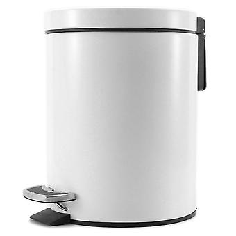 SOGA Foot Pedal Stainless Steel Rubbish Bin Round