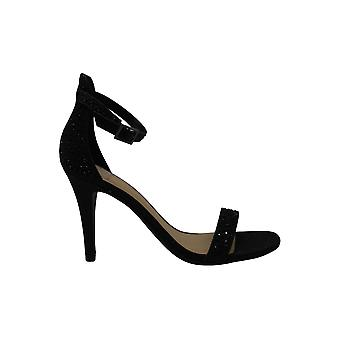 Material Girl Womens Blair4 Fabric Open Toe Special Occasion Ankle Strap Sand...
