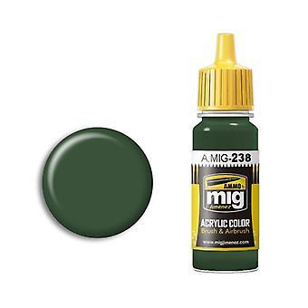 Migアクリルペイントによる弾薬 - A.MIG-0238 FS 34092 ミディアムグリーン(17ml)