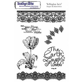 IndigoBlu Nottingham A5 Lace Rubber Stamp
