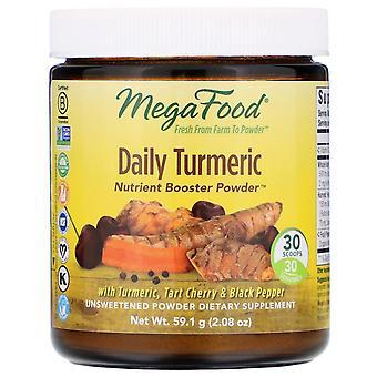 MegaFood, Dagelijks Kurkuma, Nutrient Booster Powder, Ongezoet, 2,08 oz (59,1 g)