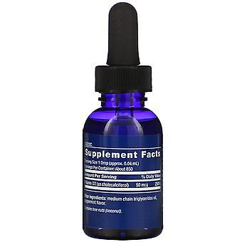 Life Extension, Liquid Vitamin D3, Mint Flavor, 2,000 IU, 1 fl oz (29.57 ml)